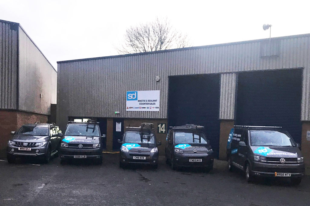 Leeds industrial unit with SD vans parked outside